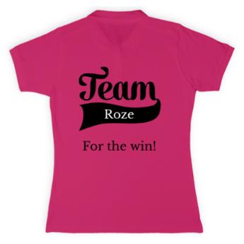 T-shirt voor team pink