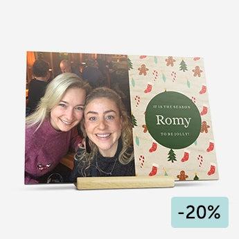 Carte de Noël en bois