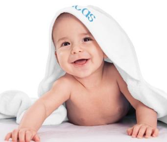 Badcape voor baby's