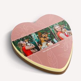 Čokoládove srdce s fotkou