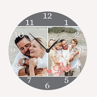 Reloj de pared con foto