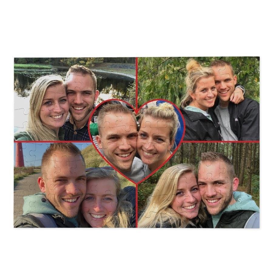 puzzel met romantische foto