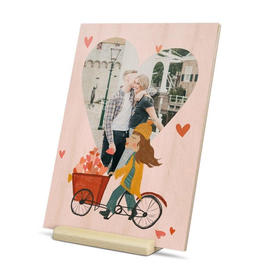 houten valentijnskaart versturen