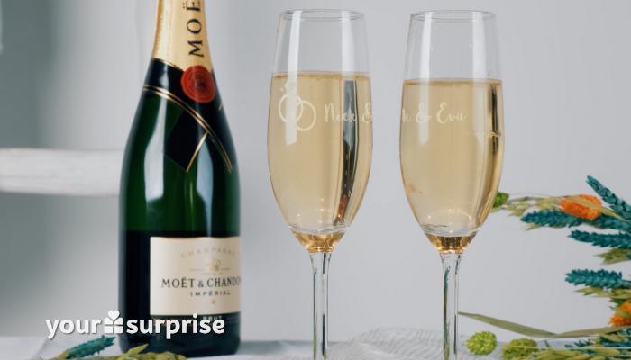 Stap 5: Genieten van een verdiend glas bubbels uit jouw eigen champagneglas!