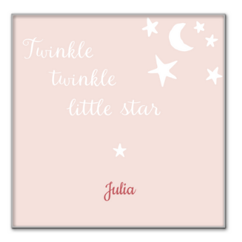 Idea #1: A personalised pink decorative baby tile