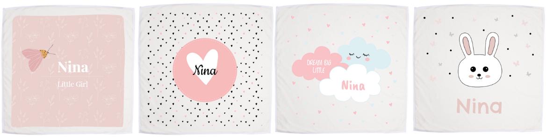 Idea #9: Personalised pink baby blanket