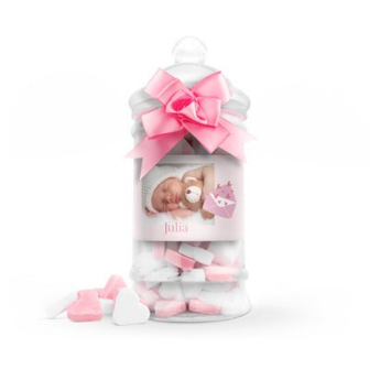 Idea #5: Personalised pink candy
