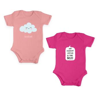 Idea #8: Personalised pink baby romper