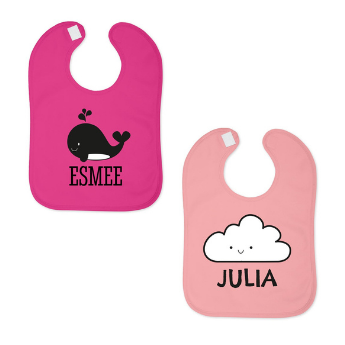 Idea #2: Personalised pink bib