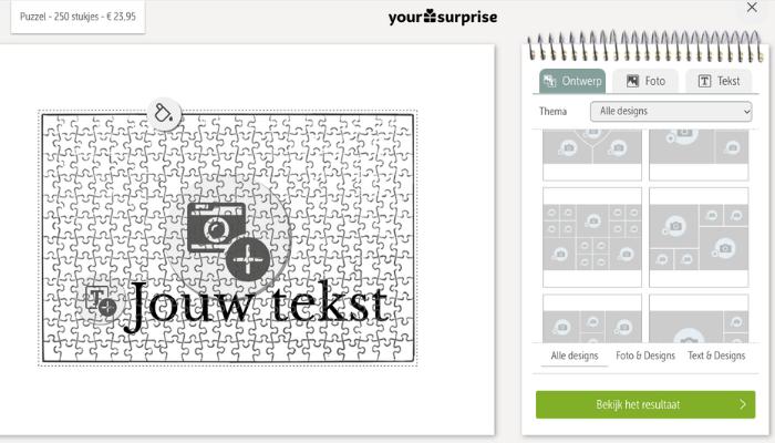 Étape 1 : Créez votre design dans l'éditeur en ligne
