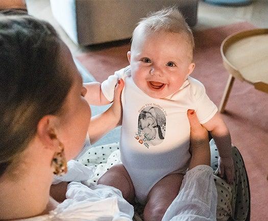 Grenouillère bébé Première Fête des Mères