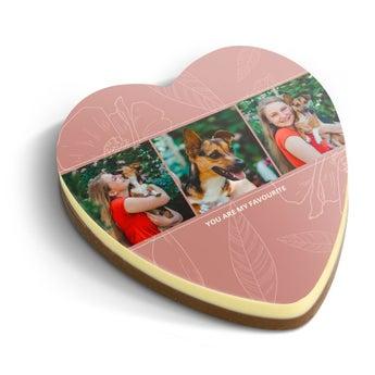 Corazón de chocolate