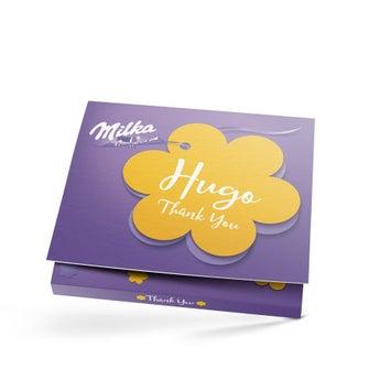 Vytištěno Řekněte to s dárkovou krabičkou Milka - Děkuji