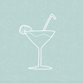 Cocktailglazen voor een workshop