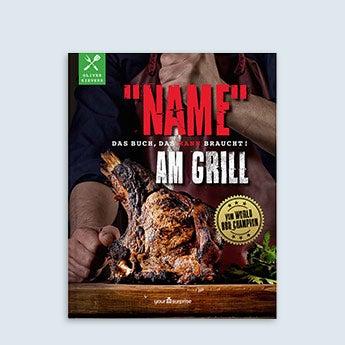 Grillbuch mit Name