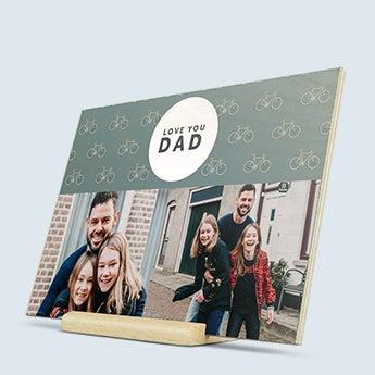 Vatertagskarte aus Holz
