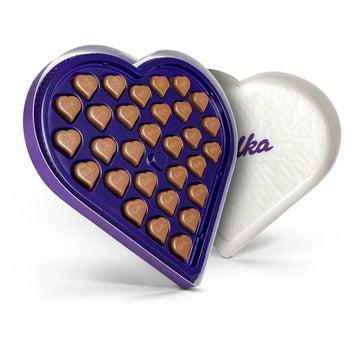 Coração Milka com foto