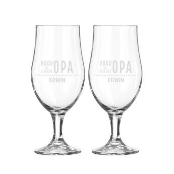 Personalised engraved glasses