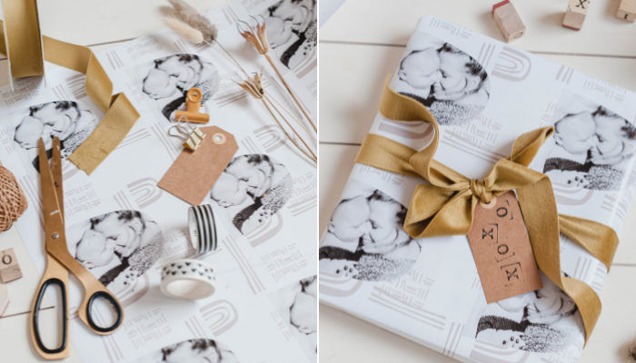 gepersonaliseerde inpakpapier cadeaupapier geschenkpapier
