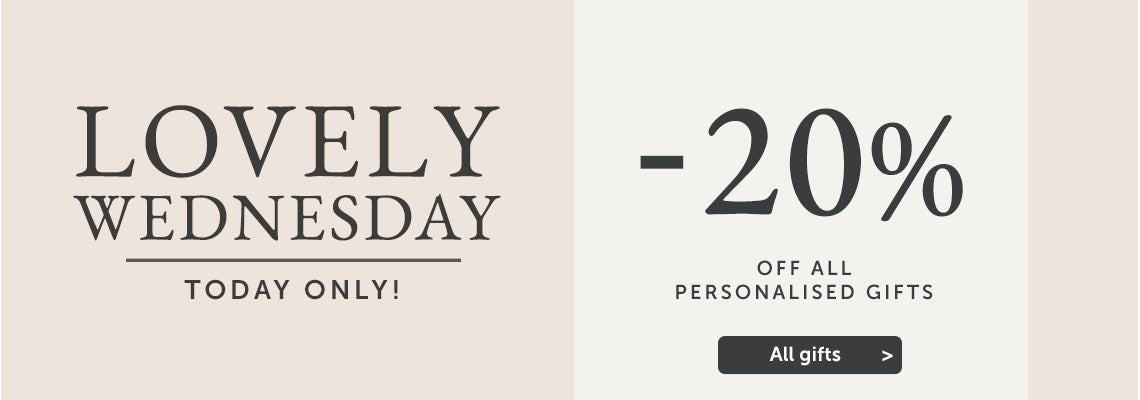Lovely Wednesday - 20% off all gifts, today only!