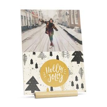 Christmas card - Wood
